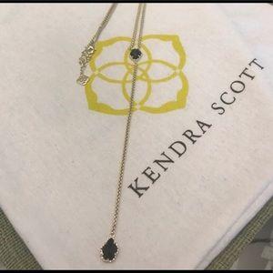 Kendra Scott, MASON necklace, black &gold